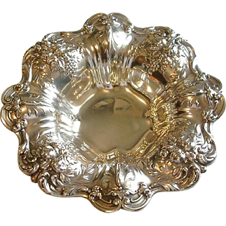 """Reed & Barton Sterling Silver Repousse Bowl 11 1/2"""" Francis I X569"""