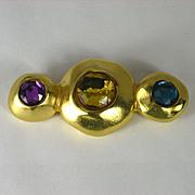 Vintage Ben Amun Pin with Rhinestones