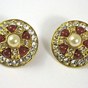 Vintage Designer Blanca Rhinestone Earrings