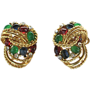 Vintage D'Orlan Mogul Style Earrings