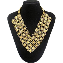 Vintage D'Orlan Large Bib Necklace