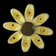 Retro Flower Power Enamel Pin 1960's Germany