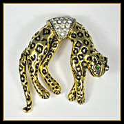 Vintage Florenza Articulated Leopard PIn
