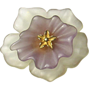 Vintage 1980 Givenchy Resin Flower Brooch Pin