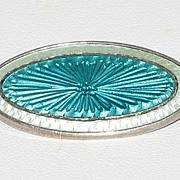 Sterling Silver Guilloche Enamel Pin