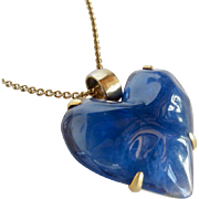 Vintage Givenchy Large Resin Heart Pendant