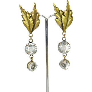 Vintage Joseff of Hollywood Crystal Dangling Earrings