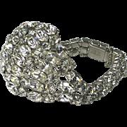 Vintage Kramer of NY Crystal Rhinestone Bracelet