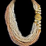 Vintage Original by Robert Multi Strand Glass Necklace