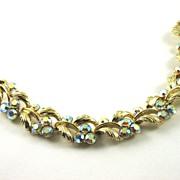 Vintage Lisner Aurora Borealis Rhinestone Bracelet