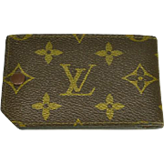 Vintage Authentic Louis Vuitton Small Wallet Bill Holder