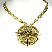 Vintage Modernist Monet Pendant Necklace