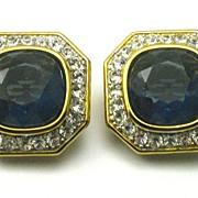 Vintage Nina Ricci Rhinestone Earrings