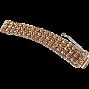Vintage Sherman Champagne 7 Row Bracelet