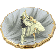 Vintage Stratton Ballerina Powder Compact by Cecil Golding