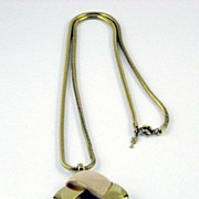 Vintage Trifari Lucite Pendant Necklace