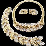 Vintage Alfred Philippe Trifari Fruit Salad Necklace Bracelet Earrings