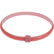 Peach & White Slim Bangle Bracelet, by Lea Stein, Paris