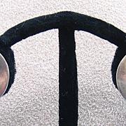 Sterling Screw-back Earrings, Denmark, c. 1970