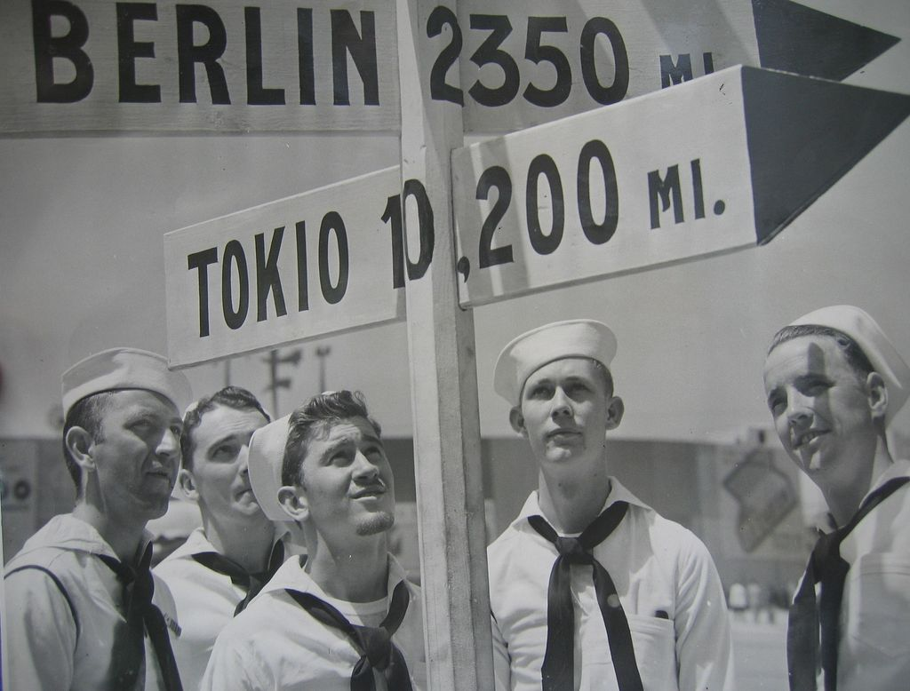WWII Photo of Our Boys Serving US Proudly
