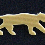 Golden-Tan Panther Pin, by Lea Stein, Paris