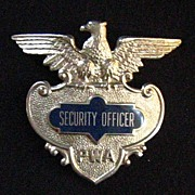 PWA Security Officer Obsolete Hat Badge, by Blackinton, c. 1970