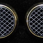 Black & White Disc Cufflinks