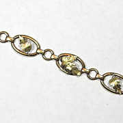 Wells Sterling and 14K Bracelet, 1950s