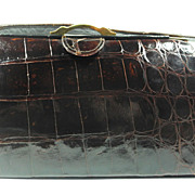 Roos Brothers, Genuine Alligator Purse Handbag, circa 1950-60s