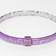 Lavender Slim Bangle Bracelet, by Lea Stein, Paris