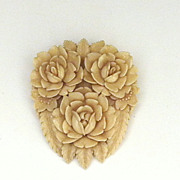 Celluloid Floral Brooch