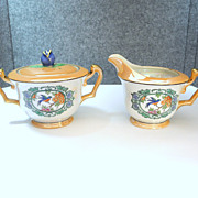 Noritake Bluebird Sugar and Creamer