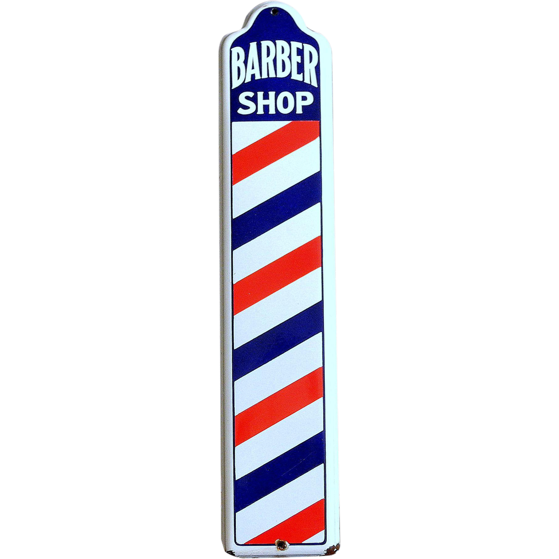 Antique barber shop sign - Original Vintage Barber Shop Sign Circa 1940