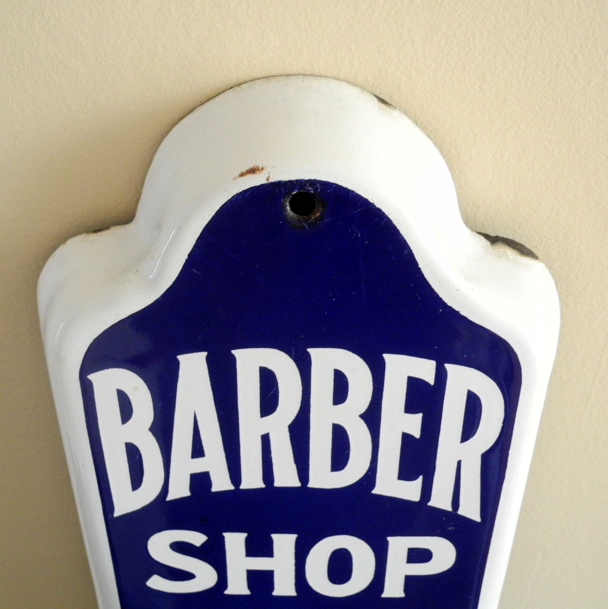 Antique barber shop sign - Roll Over Large Image To Magnify Click Large Image To Zoom