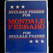 Mondale Ferraro Campaign Poster 1984