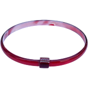 Ruby Red Bangle Bracelet, by Lea Stein, Paris