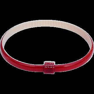 Lipstick Red Bangle Bracelet, by Lea Stein, Paris