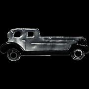 Black and Silver Rolls Royce Car Pin, by Lea Stein, Paris