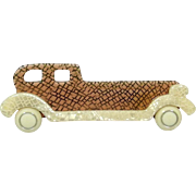 Tan and Cream Rolls Royce Pin, by Lea Stein, Paris