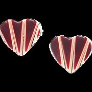 Mini Bright Red Heart Pin, by Lea Stein, Paris