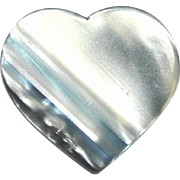 Shades of Blue Heart Pin, by Lea Stein, Paris