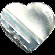 Shades of Blue Heart Pin, by Lea Stein, Paris