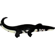 Black and White Alligator Pin, by Lea Stein, Paris