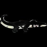 Black and White Alligator Pin, by Lea Stein, Paris