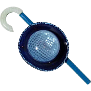 Blue Hat with Curved Handle Walking Stick Pin, by Lea Stein Paris