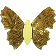 Golden Butterfly Pin, by Lea Stein, Paris