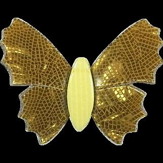 Golden Butterfly Pin, by Lea Stein, Paris