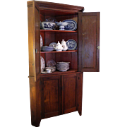 Early 19th Century Walnut Corner Cupboard