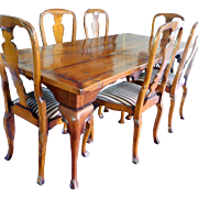 Vintage Cherry Dining Table and Chairs