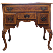 Lowboy with Flame Mahogany and Birch Veneers